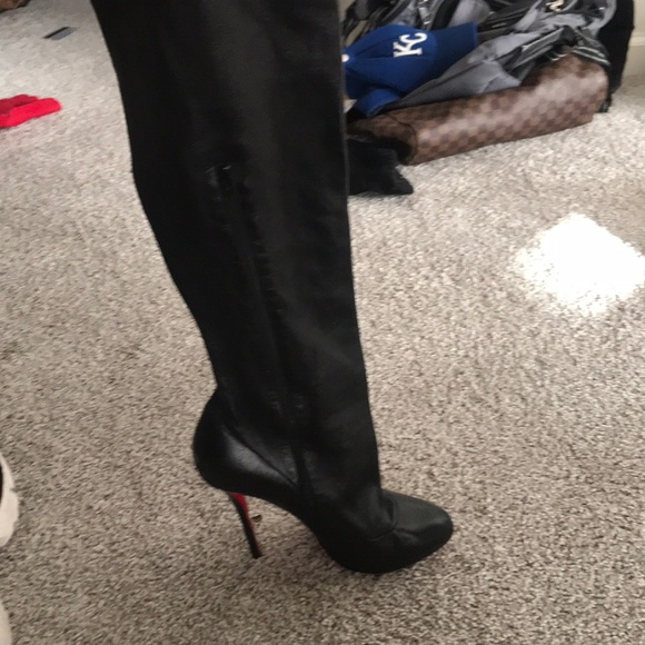 promo code 656a1 3f897 Louboutin over the knee boots